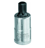 Chave Soquete Multidentada 8 mm Encaixe 1/2 pol - REF 16.720  - GEDORE