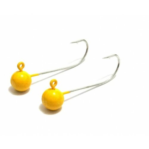 Jig Head para Iscas Artificiais de Silicone - Amarelo - Snook Fishing