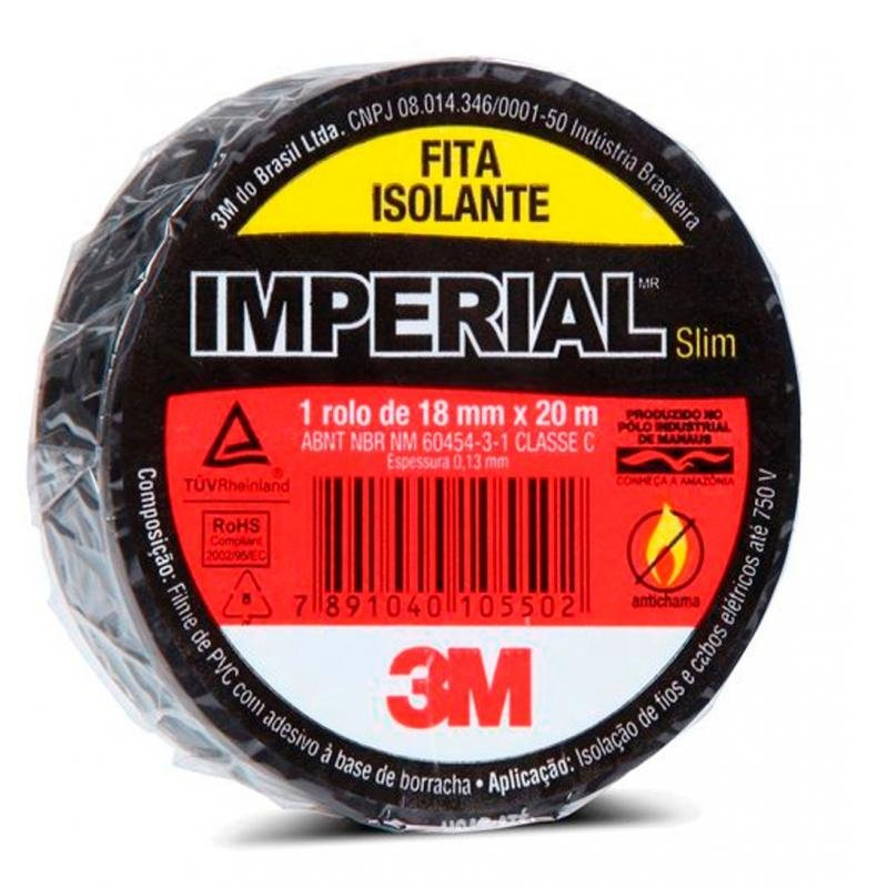 Fita isolante Imperial 18MM X 20MM - 3M