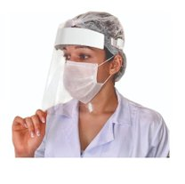 Máscara Facial Face Shield Protetora Anti-cuspir Respingos