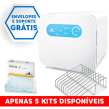 Kit Autoclave Vitale Class 21L + Envelopes Protex-E + Suporte para envelopes