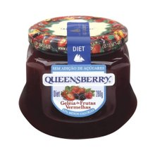 Geleia Queensberry Frutas Vermelhas Diet 280g