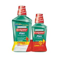 Enxaguante Bucal Colgate Plax 500ml + 1,99 Enxaguante 350ml