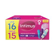Absorvente Intimus Interno Mini Leve 16 Pague 15 Unidades