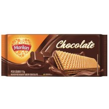 Biscoito Marilan Wafer Chocolate 115g