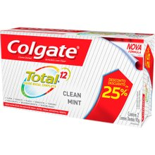 Creme Dental Colgate Total 12 Clean Mint 90g Com 2 Unidades