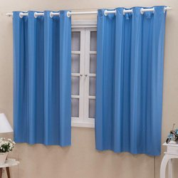 Cortina Blackout Corta Luz 2,80m x 1,60m Lisa Azul